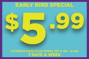 Car Wash Package - Early Bird Special